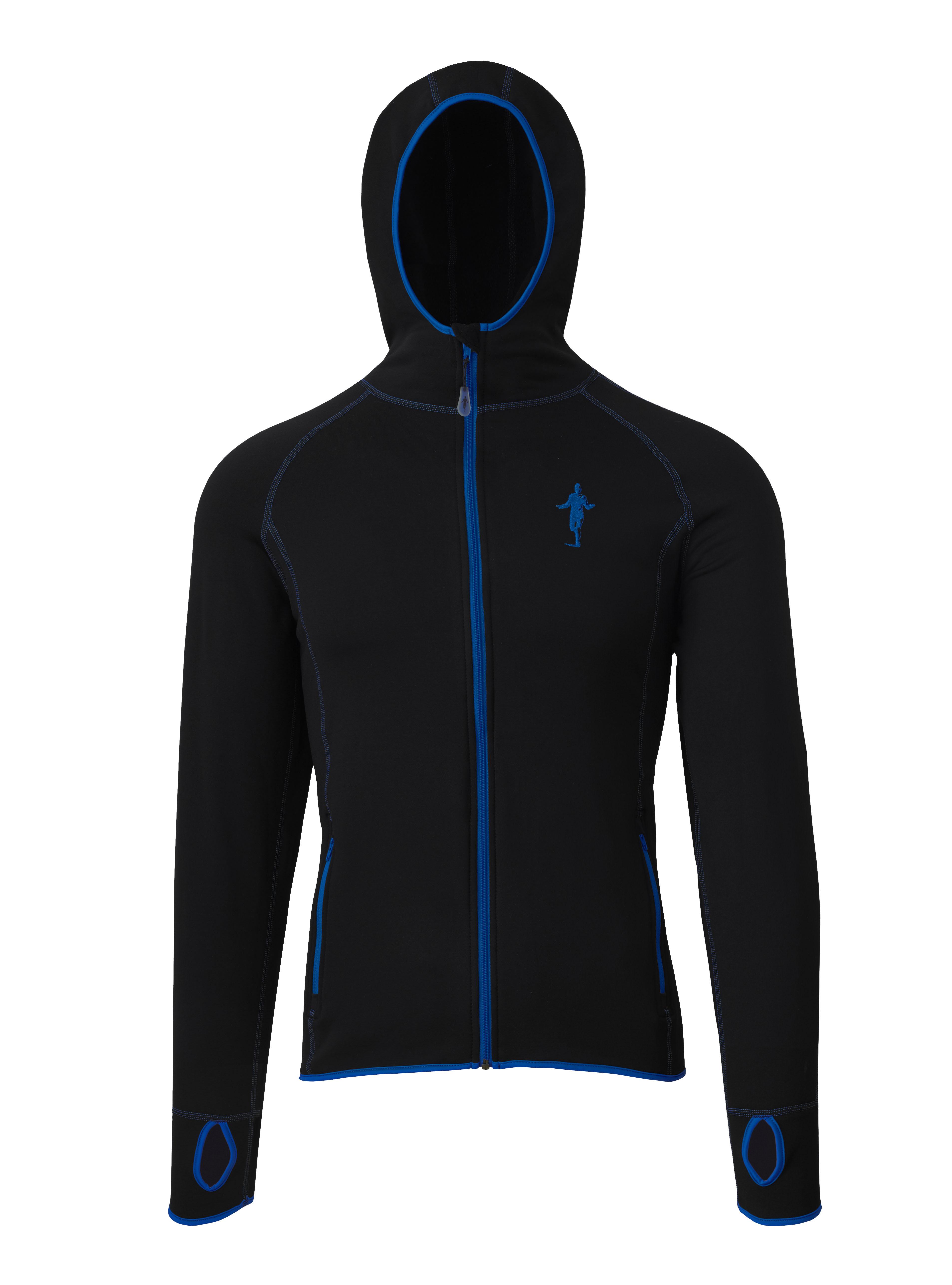 Thoni Mara Fleece Hoodie Kapuzenpullover schwarz blau