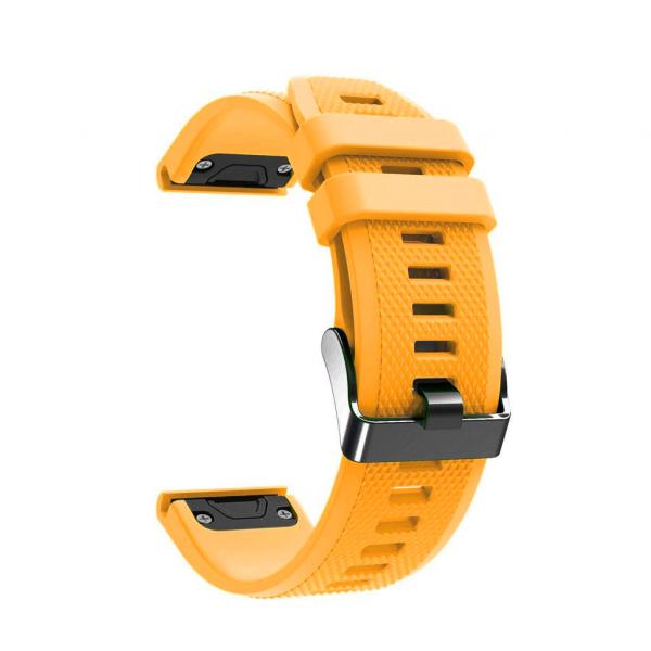 Laufbursche Zubehör Wechselarmband Garmin Fenix 6 Silikon gelb