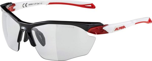 ALPINA Twist Five HR VL+ Sportbrille schwarz-rot-weiß