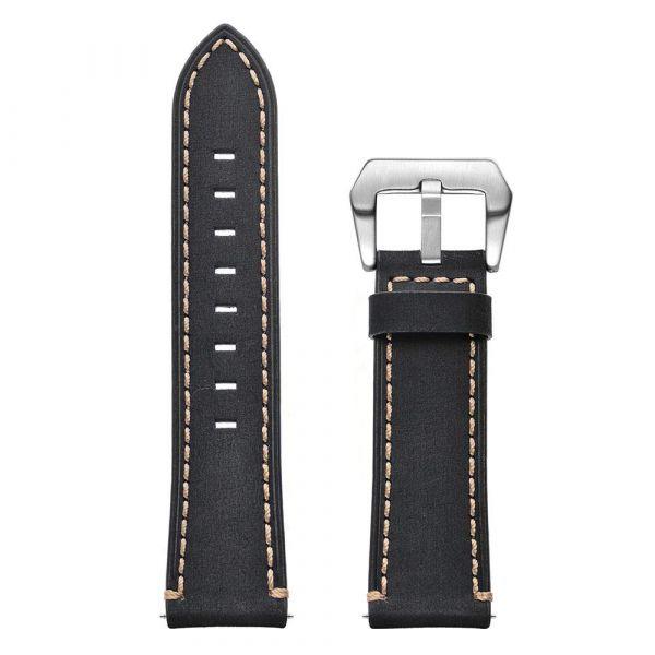 Leder Schnellwechselarmband für Polar Vantage M schwarz