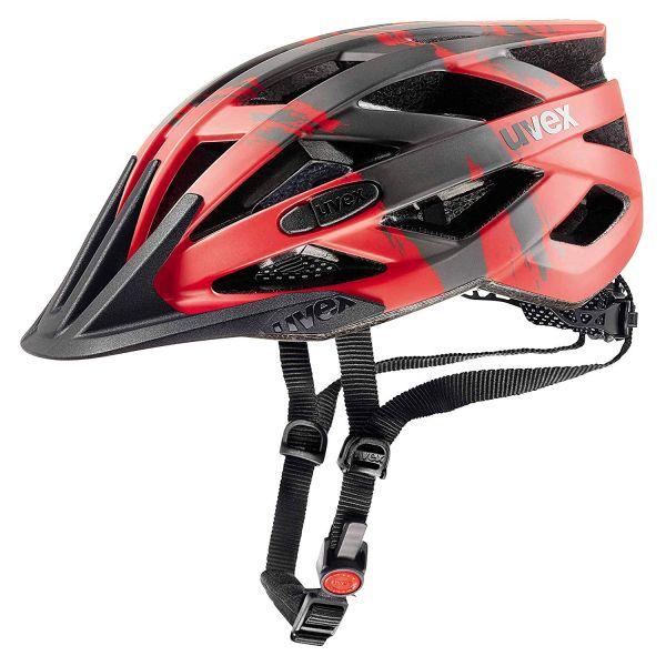 uvex I-VO CC Fahrradhelm rot-dunkelsilber-schwarz