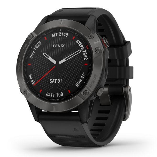 GARMIN fenix® 6 Saphir - GPS-Multisportuhr schwarz