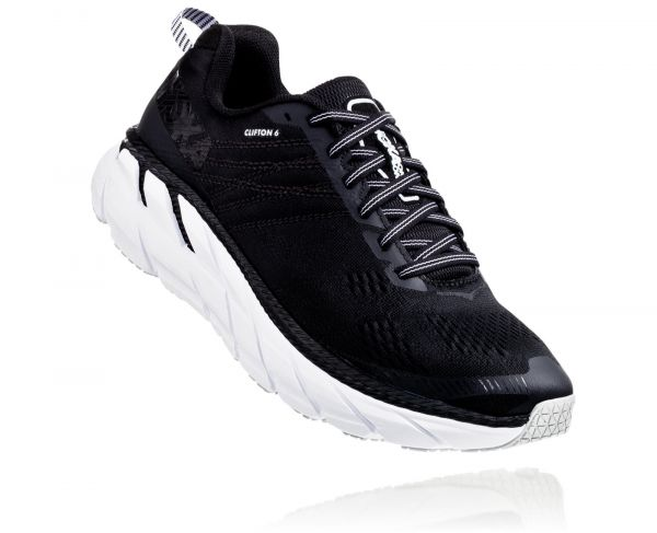 HOKA ONE ONE Herren Clifton 6 Wide Black / White