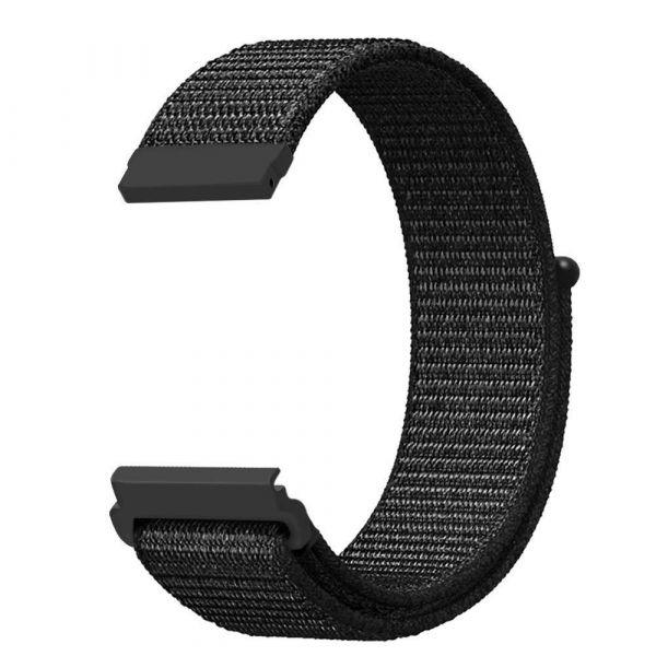Nylon Schnellwechselarmband für Polar Vantage M schwarz
